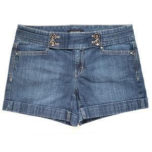 WHBM Jean Sailor Denim Shorts